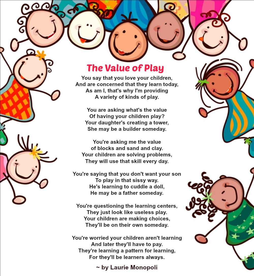 value of play poem the learning station